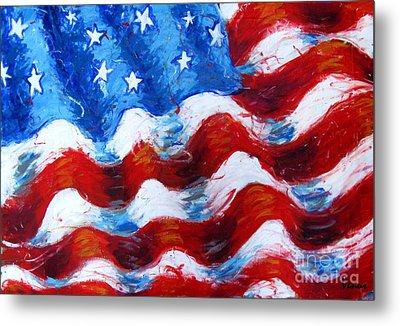 American Flag Metal Print by Venus