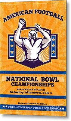 American Football National Bowl Poster Art Metal Print by Aloysius Patrimonio