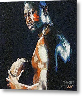 American Football Player Metal Print by Dragica  Micki Fortuna