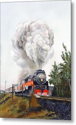 American  Freedom  Train #4449 Metal Print by Jeannine Marx Fruci