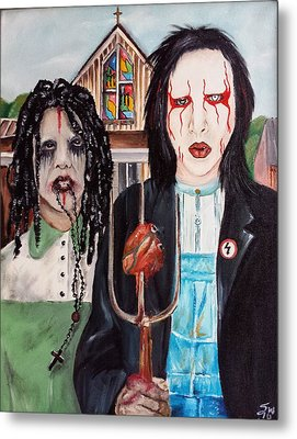 American Goth Metal Print by S G Williams