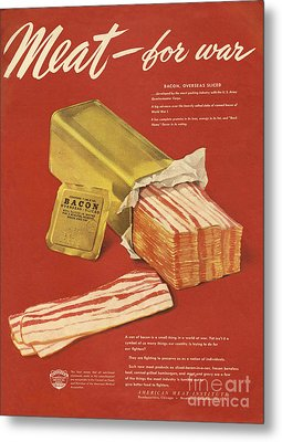 American Meat Institute 1950s Usa Bacon Metal Print by The Advertising Archives
