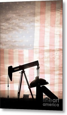 American Oil Well Metal Print by James BO  Insogna