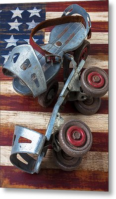 American Roller Skates Metal Print by Garry Gay