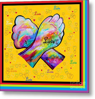 American Sign Language Love Metal Print by Eloise Schneider