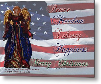 Americana Military Christmas 1 Metal Print by Robyn Stacey