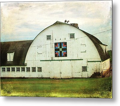 Amish Barn Quilt Metal Print by Cassie Peters