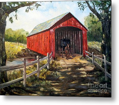 Amish Country Metal Print by Lee Piper