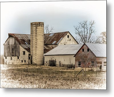 Amish Farm In Etheridge Tennessee Usa Metal Print by Kathy Clark
