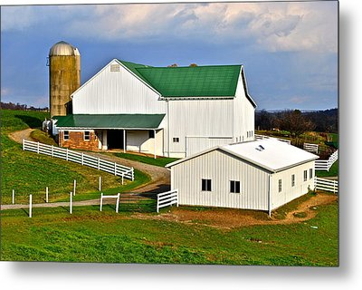 Amish Living Metal Print by Frozen in Time Fine Art Photography