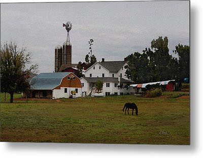 Amish Wash Day Metal Print by Gordon Beck