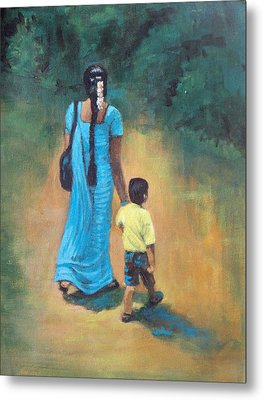 Amma's Grip Leads. Metal Print by Usha Shantharam