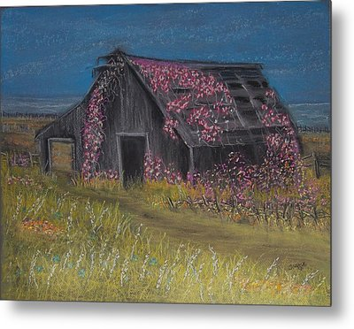 Among The Roses Metal Print by Julie Grace