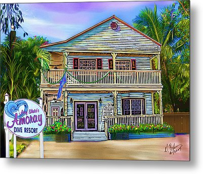 Amoray Dive Resort Metal Print by Gerry Robins