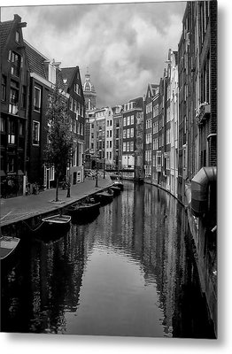 Amsterdam Canal Metal Print by Heather Applegate