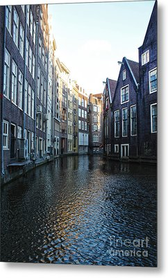 Amsterdam Canal View - 01 Metal Print by Gregory Dyer