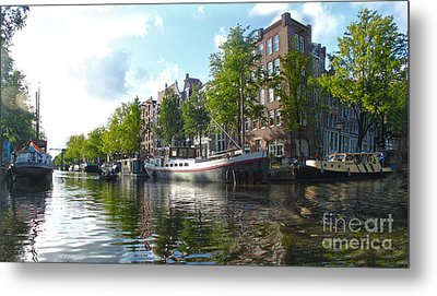 Amsterdam Canal View - 03 Metal Print by Gregory Dyer