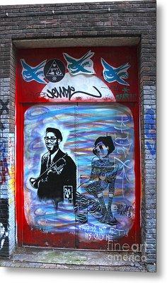 Amsterdam Jazz Graffiti Metal Print by Gregory Dyer