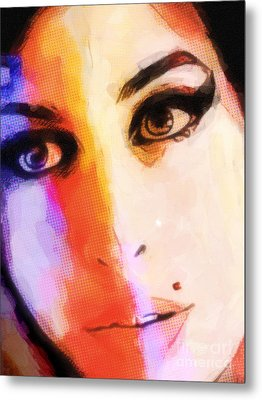 Amy Pop-art Metal Print by Lutz Baar