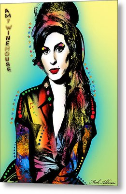 Amy Winehouse Metal Print by Mark Ashkenazi