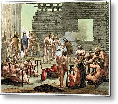 An Ancient Celtic Or Gaulish Camp Metal Print by Gallo Gallina