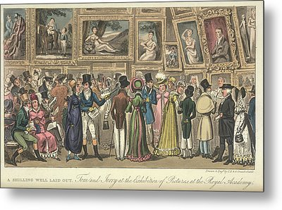 An Art Exhibition Metal Print by British Library