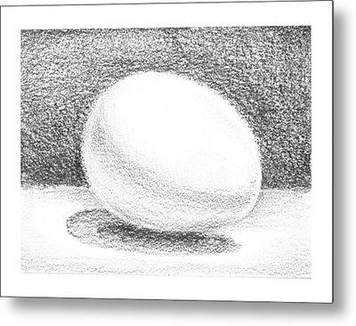 An Egg Study One Metal Print by Irina Sztukowski