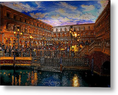 An Evening In Venice Metal Print by David Lee Thompson