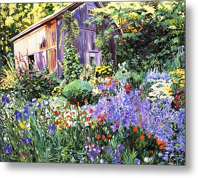 An Impressionist Garden Metal Print by David Lloyd Glover