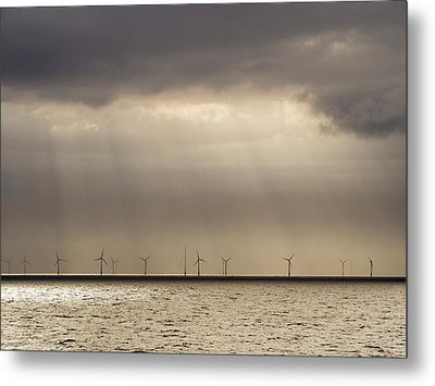 An Offshore Wind Farm In Dutch Waters Metal Print by Ashley Cooper