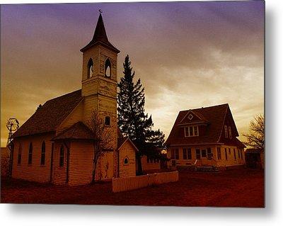 An Old Church In Williston North Dakota  Metal Print by Jeff Swan