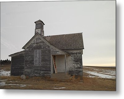 An Old Church On The Prairie  Metal Print by Jeff Swan