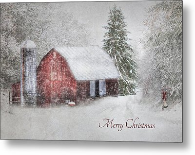 An Old Fashioned Merry Christmas Metal Print by Lori Deiter