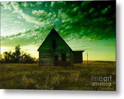 An Old North Dakota Farm House Metal Print by Jeff Swan