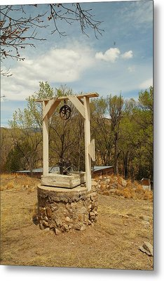 An Old Well In Lincoln City New Mexico Metal Print by Jeff Swan