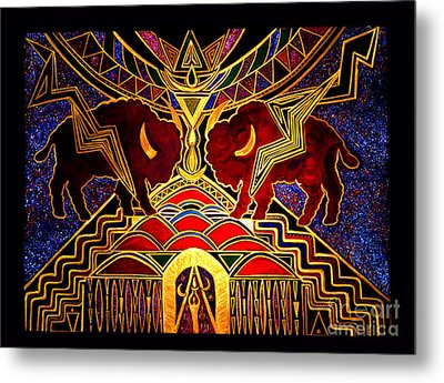 Ancestral Invocation Metal Print by Susanne Still