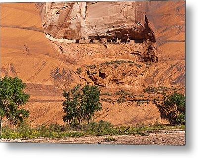 Ancient Anasazi Pueblo Canyon Dechelly Metal Print by Bob and Nadine Johnston