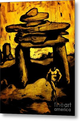 Ancient Grunge Metal Print by John Malone