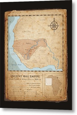 Ancient Mali Empire Metal Print by Dave Kobrenski