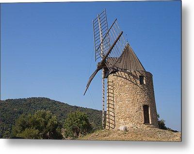 Ancient Stone Windmill Metal Print by Jaroslav Frank