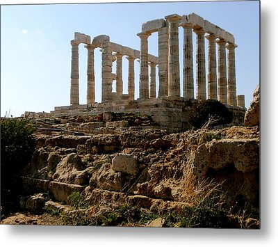 Ancient Temple Metal Print by Constantinos Charalampopoulos