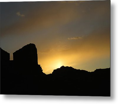 Ancient Walls Against The Sunset Metal Print by Feva  Fotos