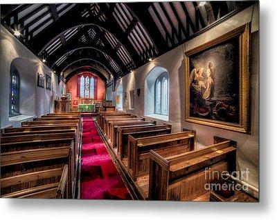 Ancient Welsh Church Metal Print by Adrian Evans