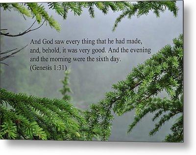 And God Saw Metal Print by Tikvah's Hope