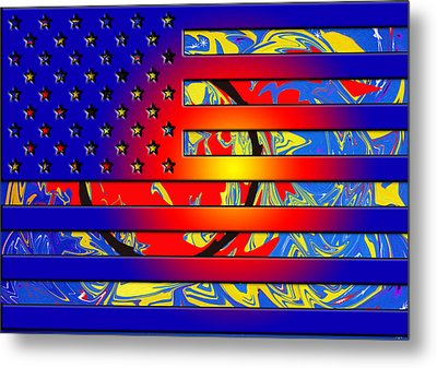 And The Flag Still Stands Metal Print by Robert Margetts