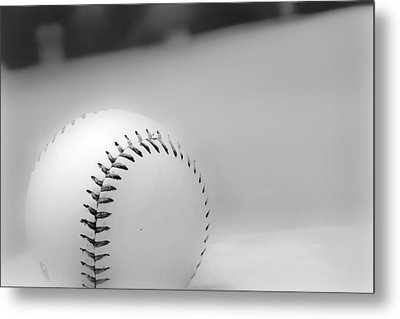 And Then There Was Baseball Metal Print by Kelly Hazel