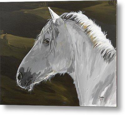 Andalusian Foal Metal Print by Janina  Suuronen