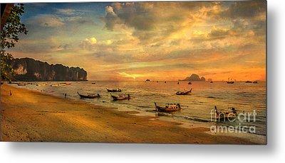 Andaman Sunset Metal Print by Adrian Evans