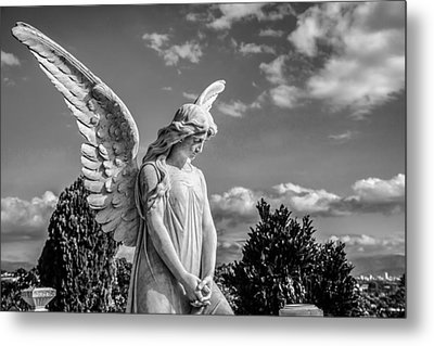 Angel At The Heredia General Cemetery Metal Print by Andres Leon