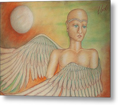 Angel Boy Metal Print by Claudia Cox